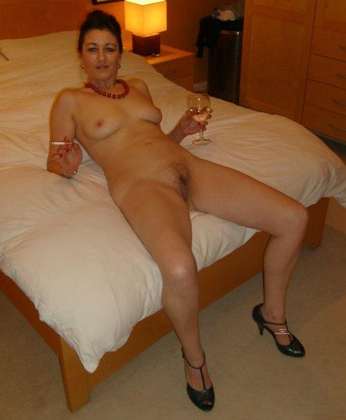 Brunette with medium breasts