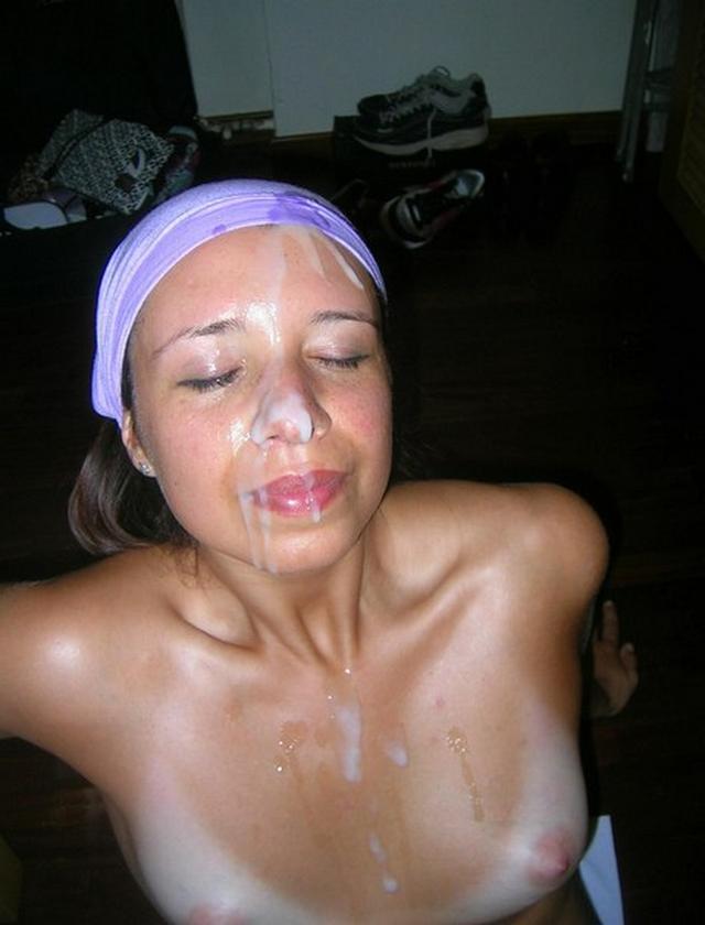Сперма в лицо русской
