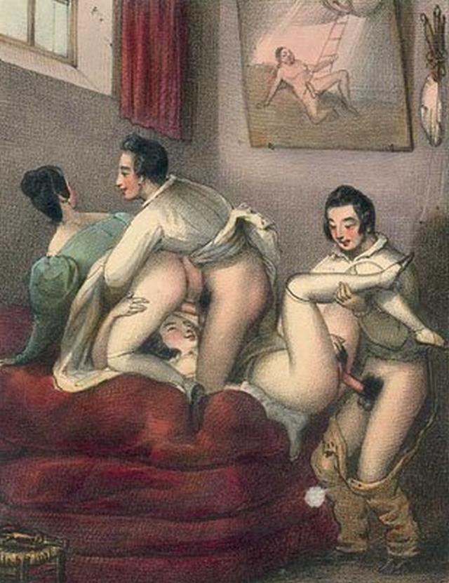 Старинная порнографическая живопись